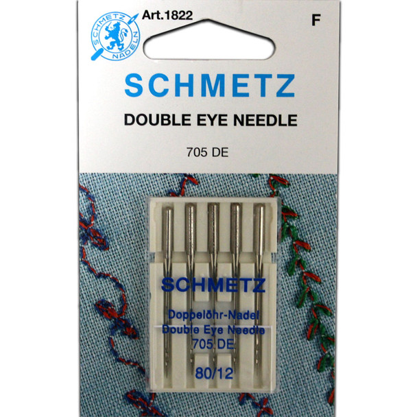 Schmetz Double Eye Needles - Size 80/12