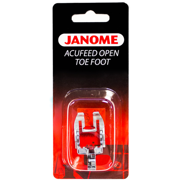 Janome AcuFeed Open Toe Satin Stitch Foot (7mm)