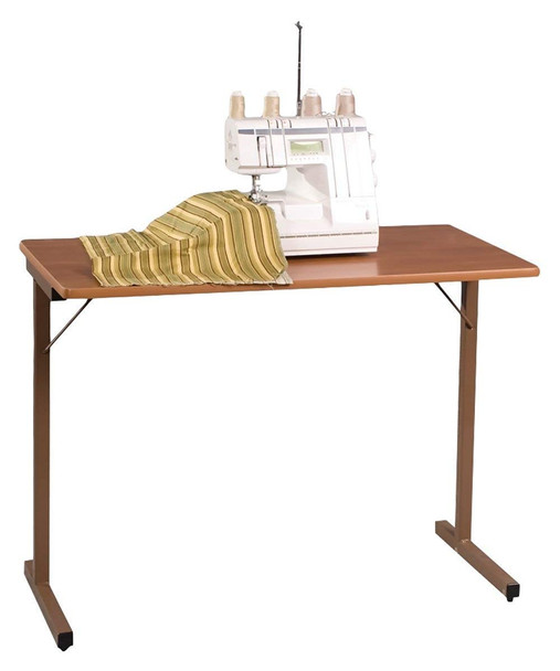Fashion Cabinets 295 Utility Folding Sewing Machine Table in Maple
