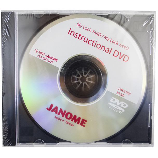 Janome Instructional DVD for Serger Models 744D, 644D and 634D