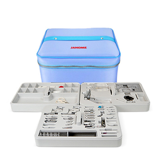 Janome 9mm Foot Accessory Storage Case - Blue