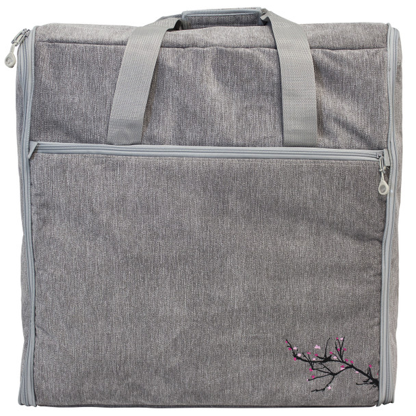 BlueFig DSEMB23 Embroidery Arm Travel Bag In Blossom Grey