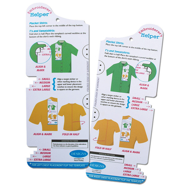 EMBROIDERER/'S BIG HELPER POSITIONING LEFT /& RIGHT EMBROIDERY XL-XXXL EH0004