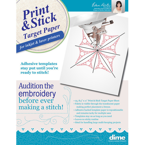 Print & Stick Target Paper - 25 Sheets