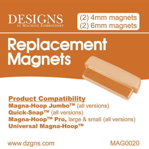 Magna-Hoop Jumbo & Quick Snap Replacement Magnets