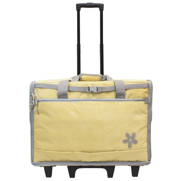 "BlueFig DS23 Wheeled Travel Bag 23"" In Daisy Yellow"