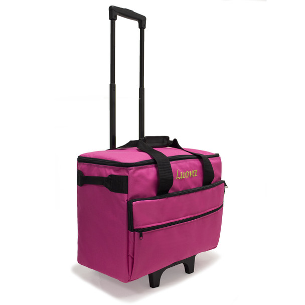 """Luova 19"""" Rolling Sewing Machine Trolley in Pink"""