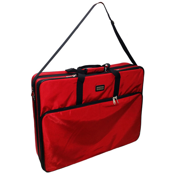 "Tutto 28"" Embroidery Project Bag In Red"