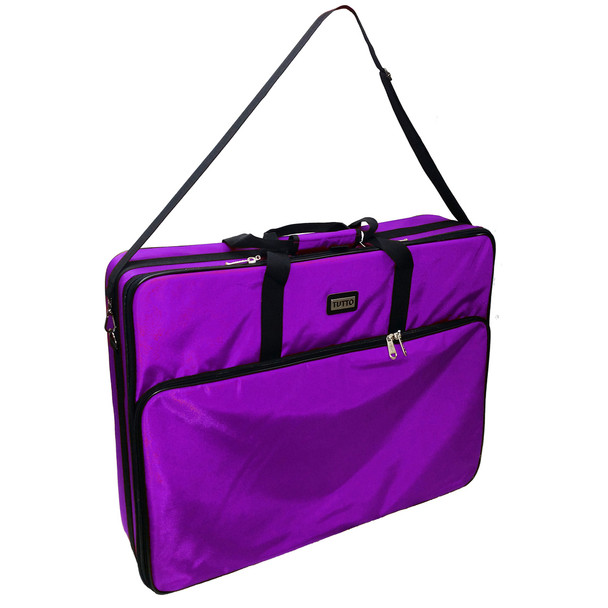 """Tutto 28"""" Embroidery Project Bag In Purple"""