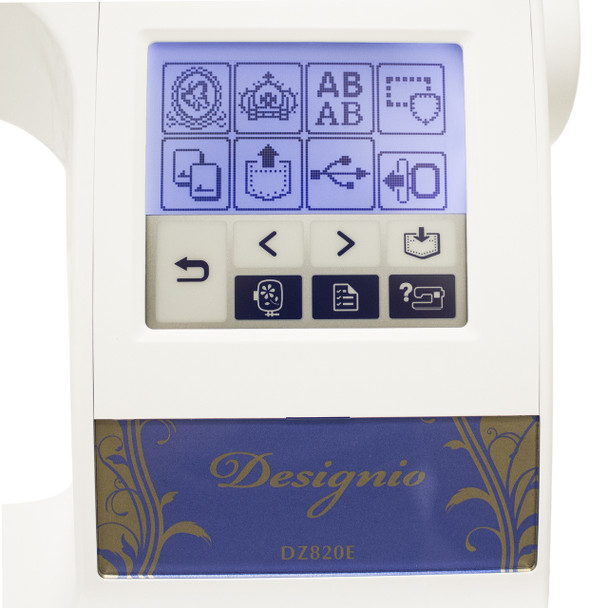 Brother Designio DZ820E - Digital screen