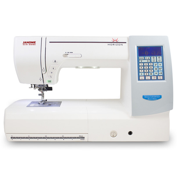 Janome Memory Craft Horizon 8200QCP Special Edition - Front View