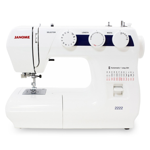 Janome 2222 Sewing Machine (Refurbished) - Front view
