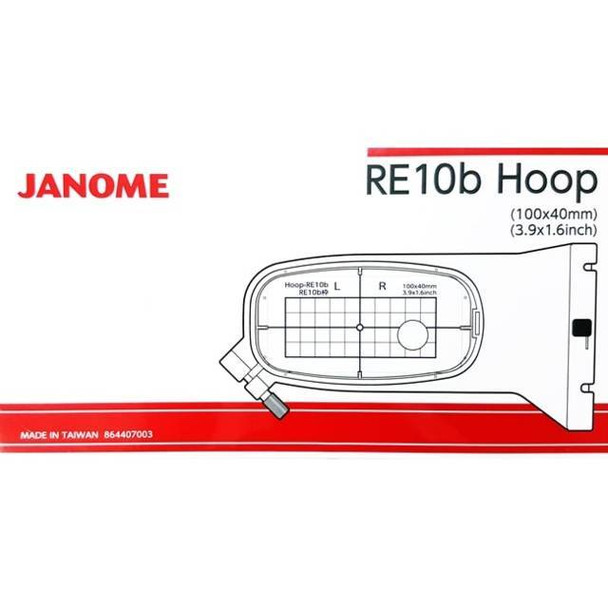"Janome RE10B 3.9"" x 1.6"" Embroidery Hoop fits MC500E and MC400E"