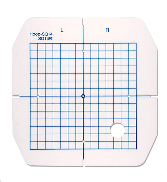 Janome Replacement Template with Grid for SQ14 Hoop