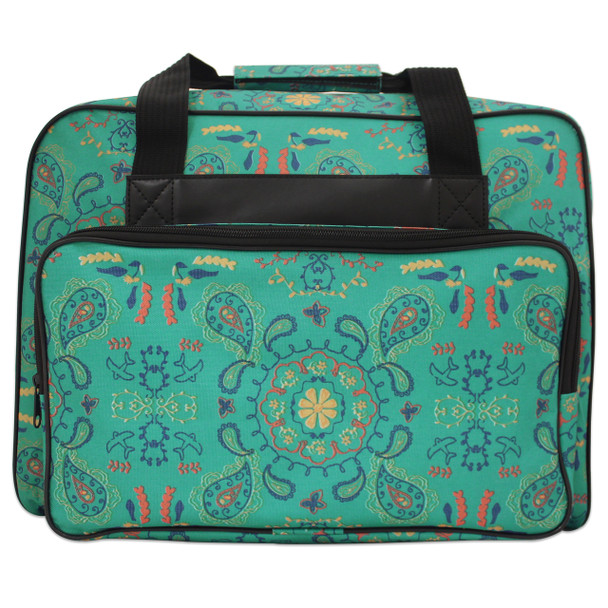 Janome Sewing Machine Tote bag in Green Paisley Pattern