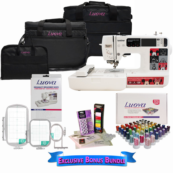 Brother PE540D Disney Embroidery Machine with Bonus Bundle