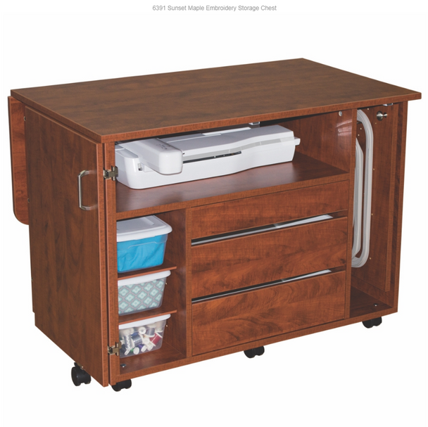 Horn Model 63 Embroidery Storage Chest Available in Sunset and Sunrise Maple