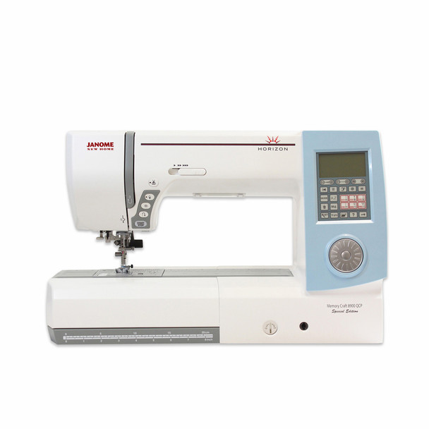 Janome Horizon Memory Craft 8900QCP Special Edition Sewing and Quilting Machine - Front View