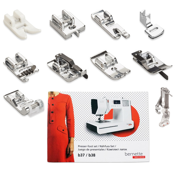 Bernette Presser Foot Kit Fits models B37 and B38 Sewing Machines