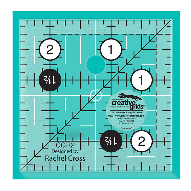 reative Grids Quilt Ruler 2-1/2in Square