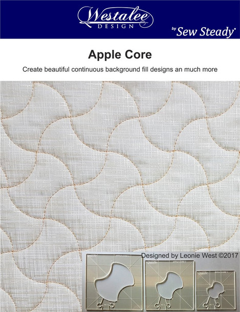 Sew Steady-Westalee Apple Core Template 3PC Set