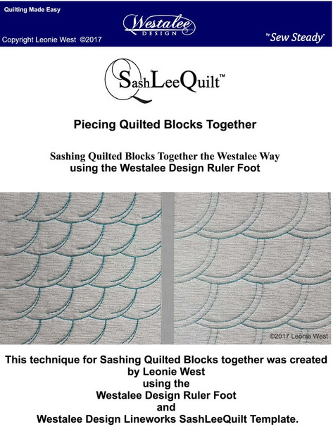ew Steady SashLee Quilt Line Works Stich in the Ditch Template