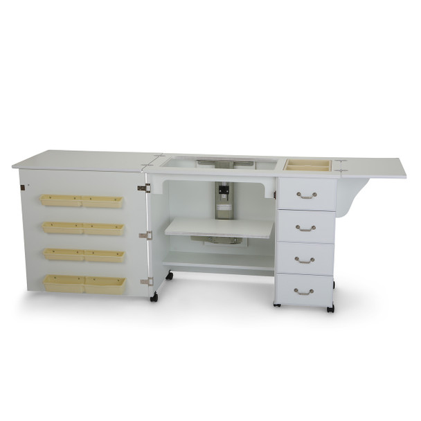 Arrow Fully Assembled Norma Jean Sewing Cabinet in White