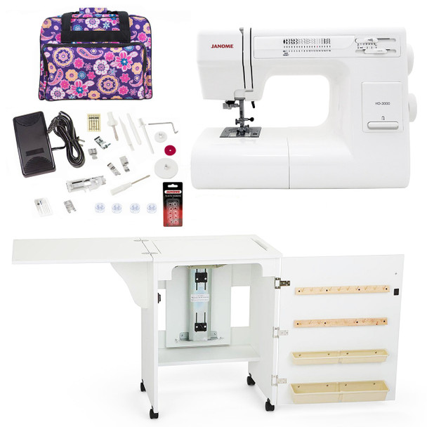Janome Sewing Machine Arrow Sewing Cabinet Combo 1