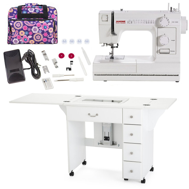 Janome Sewing Machine Arrow Sewing Cabinet Combo 3