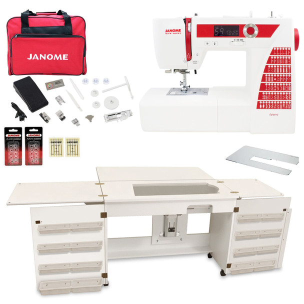 Janome Sewing Machine Arrow Sewing Cabinet Combo 5