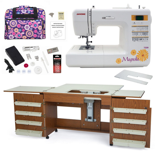 Janome Sewing Machine Arrow Sewing Cabinet Combo 6