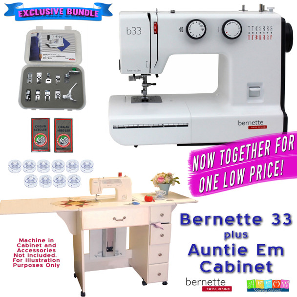 Bernette Sewing Machine Arrow Sewing Cabinet Combo 10