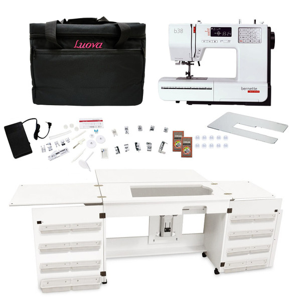 Bernette Sewing Machine Arrow Sewing Cabinet Combo 12