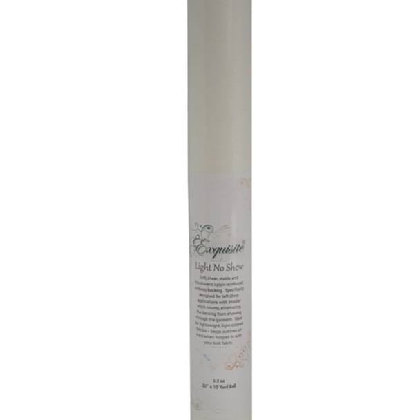 """dime Exquisite White 1.3 oz. Light No Show Stabilizer - 20"""" X 10 Yard Roll (shrink wrapped)"""