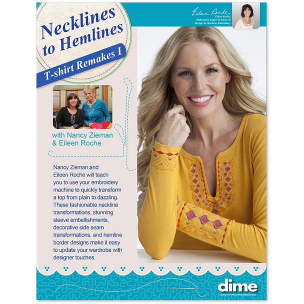 Embroider It Yourself- Necklines to Hemlines T-Shirt Remakes 1