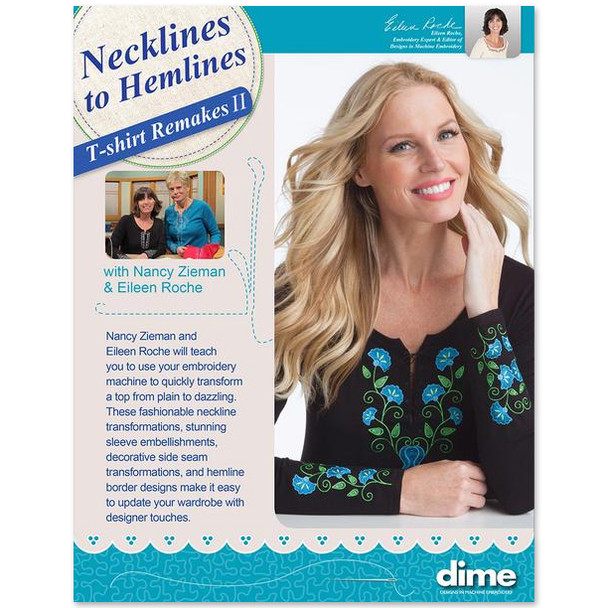 dime Embroider It Yourself- Necklines to Hemlines T-Shirt Remakes 2