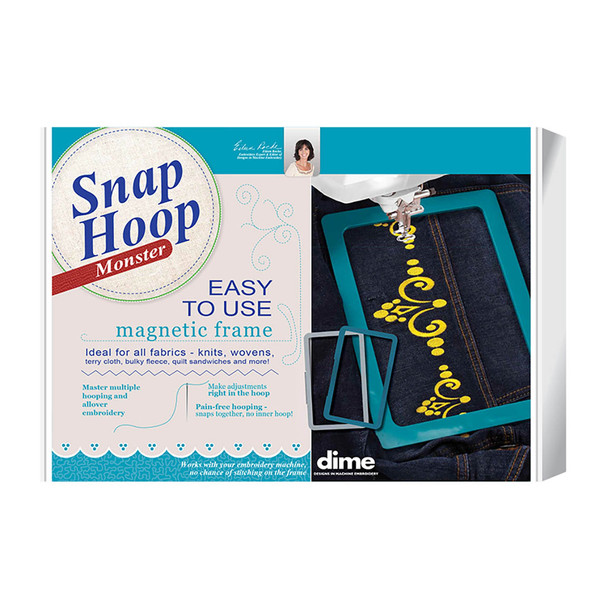 "dime Monster Snap Hoop 8"" x 12"" Fits Brother & Baby Lock Home Embroidery Machines"