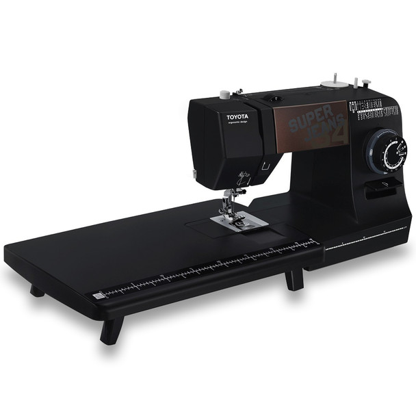 Toyota J34 Super Jeans Sewing Machine with Bonus Extension Table