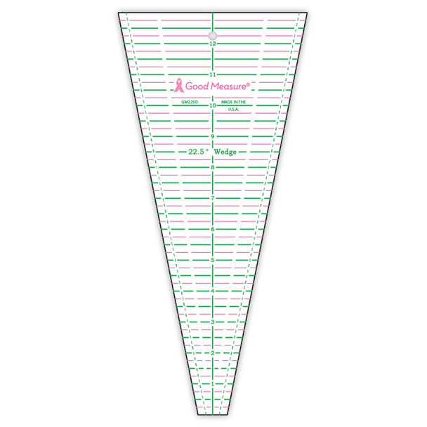 Good Measure 22.5 Degree Wedge Ruler