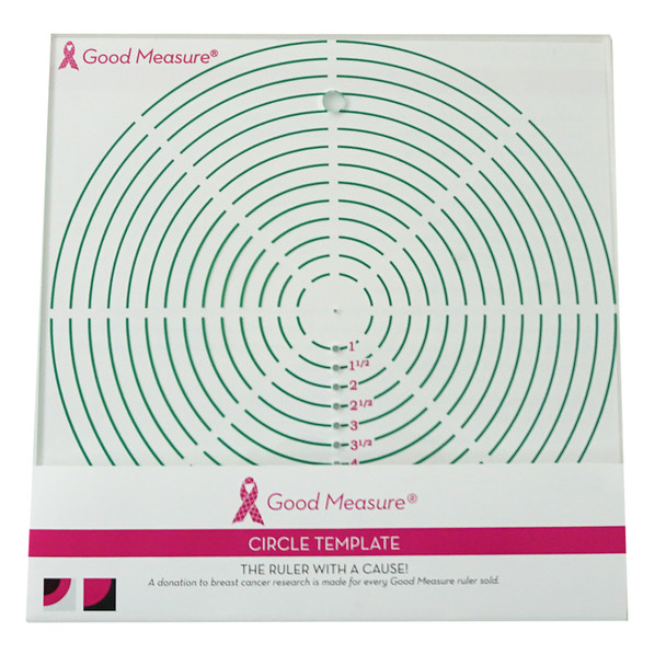 Good Measure Circle Template Ruler
