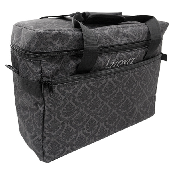 "Luova 18"" Sewing Tote in Black Grey Print"