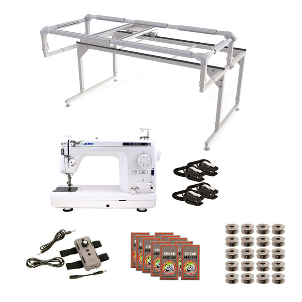 Juki TL2010Q Grace Q-Zone Hoop Frame with Speed Control Machine Quilting Combo 8
