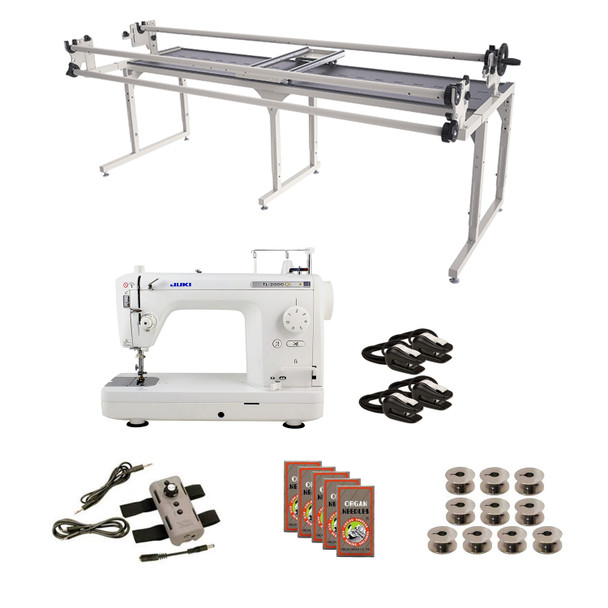 Juki TL2000Qi Grace 8' Continuum with Speed Control Machine Quilting Combo 6