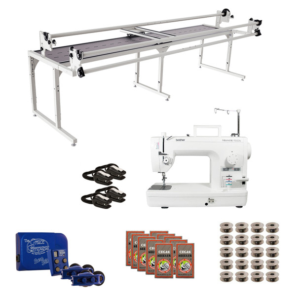 Brother PQ1500SL Grace 10' Continuum with Sure Stitch Machine Quilting Combo 1