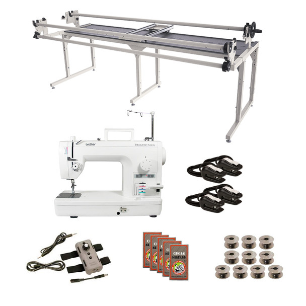 Brother PQ1500SL Grace 8' Continuum with Speed Control Machine Quilting Combo 6