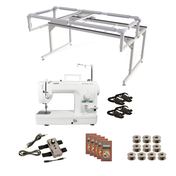 Brother PQ1500SL Grace Q-Zone Hoop Frame with Speed Control Machine Quilting Combo 8