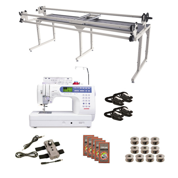 Janome MC6500P (Refurbished) Grace 8' Continuum with Speed Control Machine Quilting Combo 6