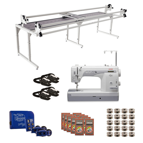 Janome 1600P-QC Grace 10' Continuum II with Sure Stitch Machine Quilting Combo 1