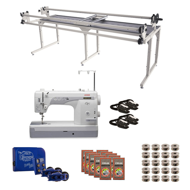 Janome 1600P-QC Grace 8' Continuum II with Sure Stitch Machine Quilting Combo 2
