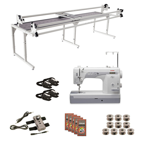 Janome 1600P-QC Grace 10' Continuum with Speed Control Machine Quilting Combo 5